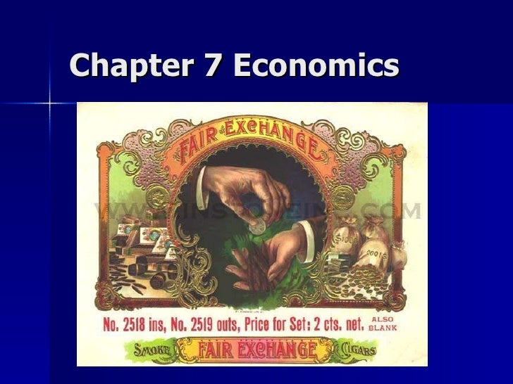 Exchange and Economics in Culture Ch7