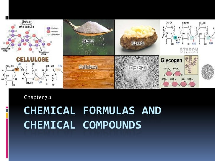 Chapter 7.1 : Chemical Names and Formulas