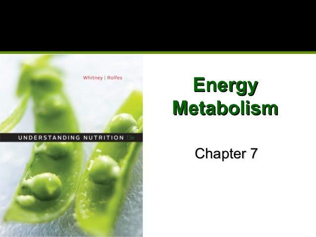 EnergyEnergy MetabolismMetabolism Chapter 7Chapter 7