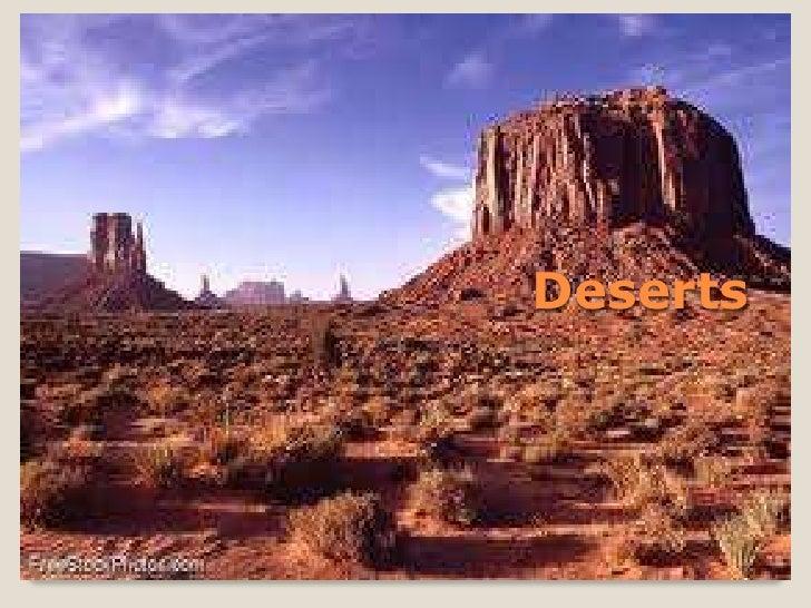Chapter 7.2 deserts