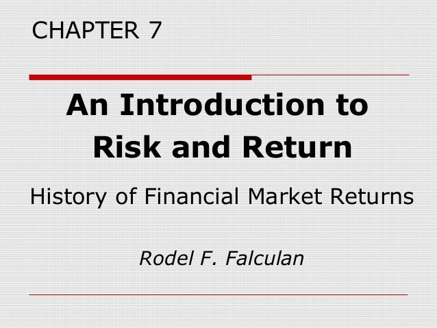 Chapter7 an introduction to risk and return