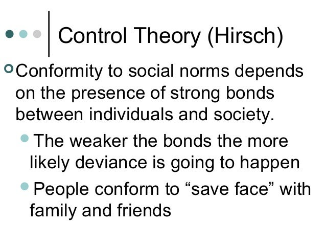 social bond theory in the wire Attachment theory in psychology what, exactly, though, was the basis of the bond the behavioral theory of attachment would one made of wire and one.