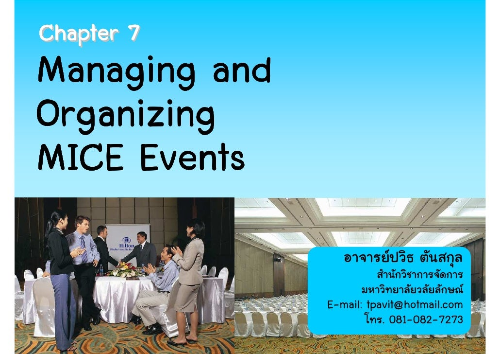 Chapter 7   managing and organizing mice events