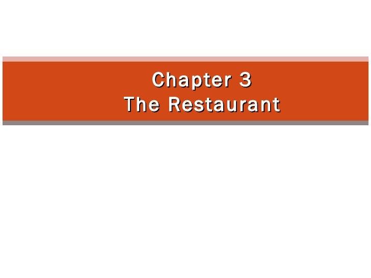 HRMPS 13 - CHAPTER 3 (RESTAURANT)