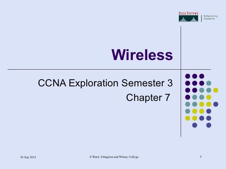 Chapter 7   wireless