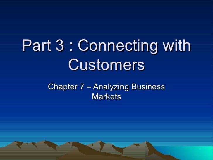 Chapter 7 Analyzing Business Markets