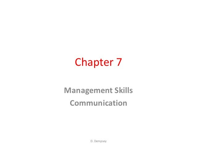 Chapter 7 lc business  management skills communication
