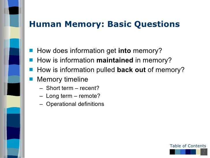 Essay On Memory
