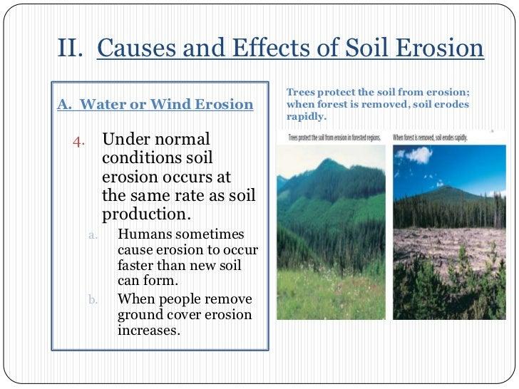 Chapter 7 section 3 soil erosion for Soil erosion causes