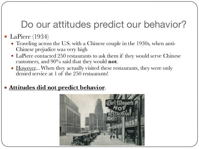 Do attitudes predict behaviour essay