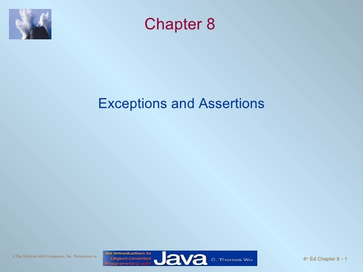 Chapter 8 Exceptions and Assertions