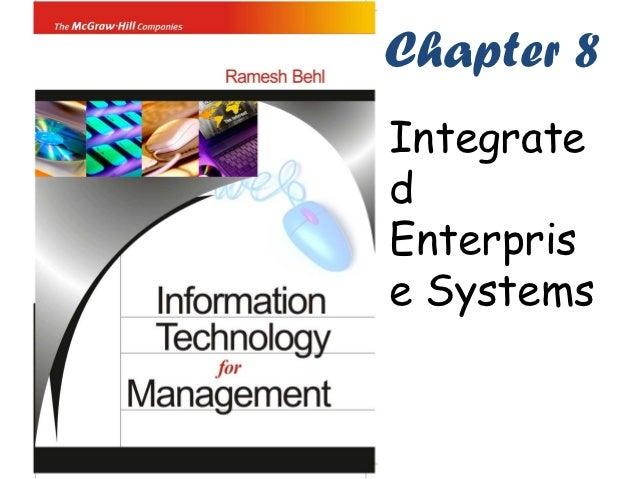 Chapter 8IntegratedEnterprise Systems