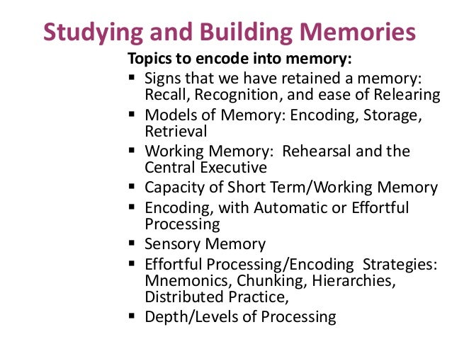 an overview of how the short term and long term memory works The biggest categories of memory are short-term memory (or working memory) and long-term memory, based on the amount of time the memory is stored both can weaken due to age, or a variety of other reasons and clinical conditions that affect memory.