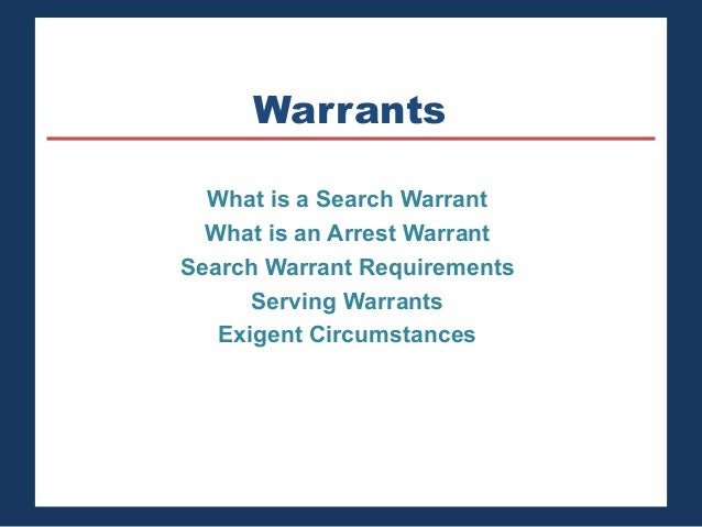 Essay on search warrant