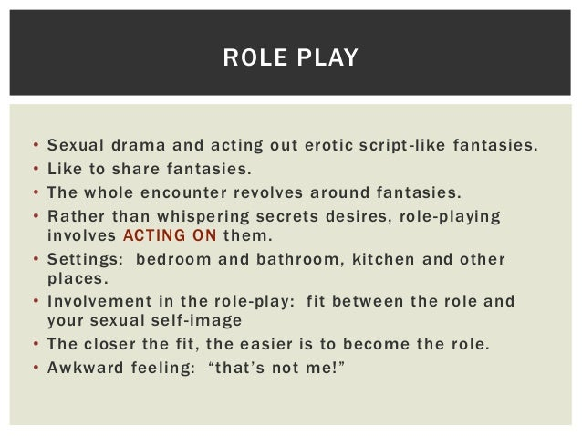 Acting Play Script Acting Out Erotic Script