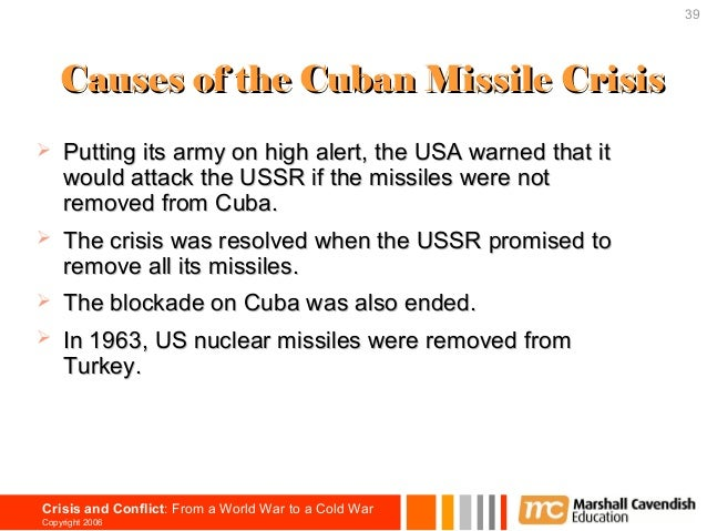 thesis statement on cuban missile crisis