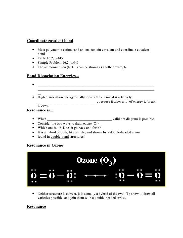 Covalent bonding worksheet answers chapter 8