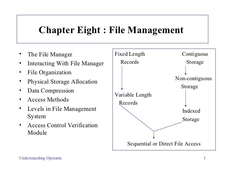Chapter Eight :   File Management   <ul><li>The File Manager   </li></ul><ul><li>Interacting With File Manager   </li></ul...