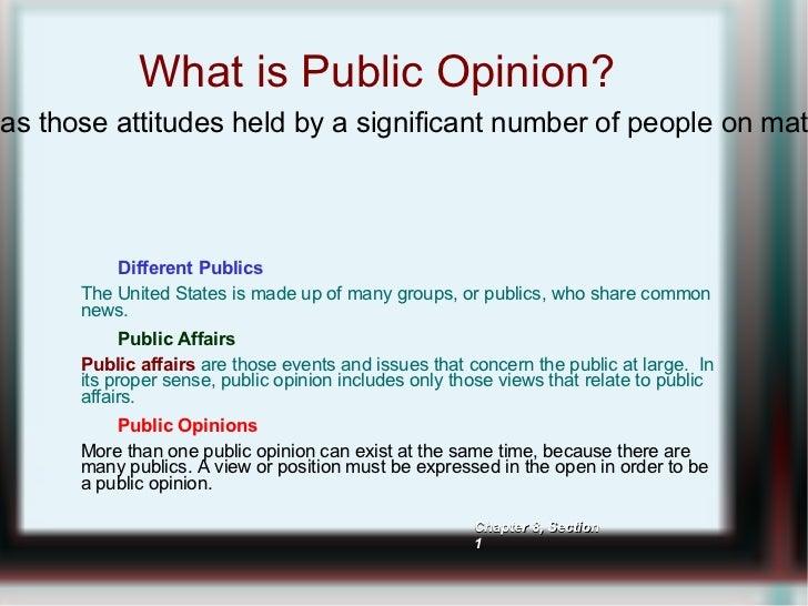 <ul>What is Public Opinion? </ul><ul><ul><li>Different Publics </li><ul><li>The United States is made up of many groups, o...