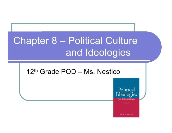 Chapter 8 – Political Culture            and Ideologies    12th Grade POD – Ms. Nestico