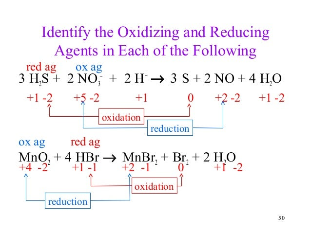 oxidation and reduction worksheet