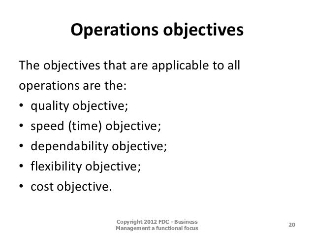 Operations Management Reflection
