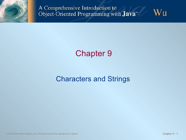 Chapter 9 - Characters and Strings