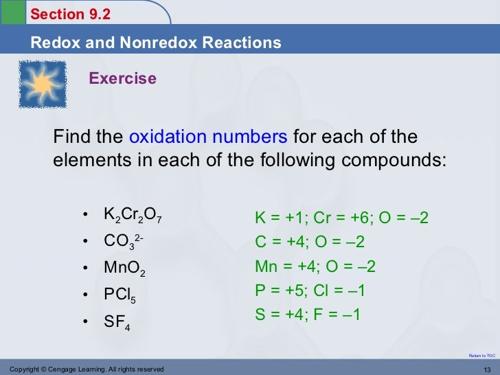 Assign oxidation numbers to each element in this compound no