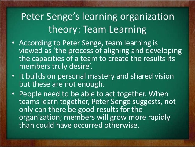 personal mastery peter senge Apart from the fifth discipline, peter senge has also written other management books a key element in achieving personal mastery, senge writes.
