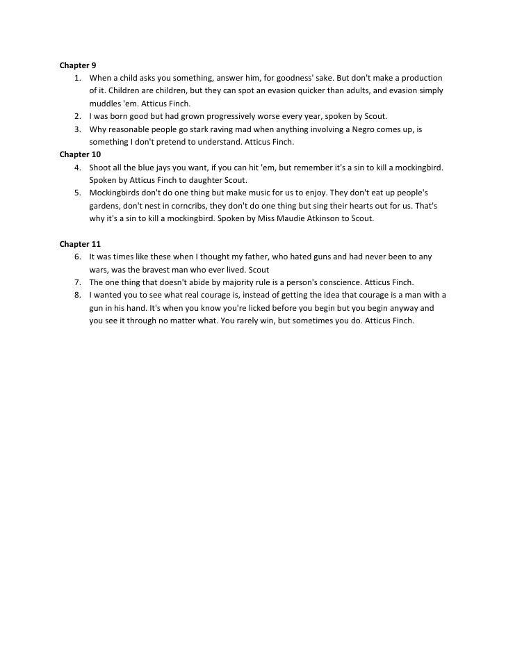 Character Analysis Essay On To Kill A Mockingbird