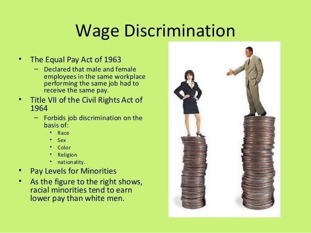 Equal Pay Act Graph The Equal Pay Act of 1963