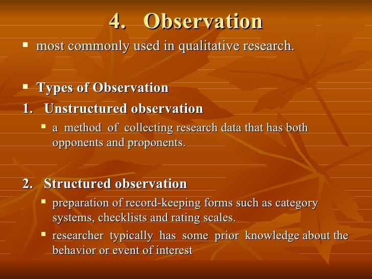 what is observation method in research methodology