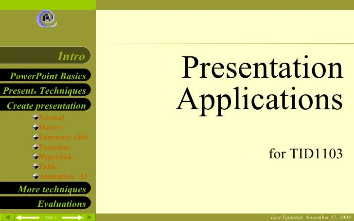 TID Chapter 9 Presentation Applications Microsoft Power Point