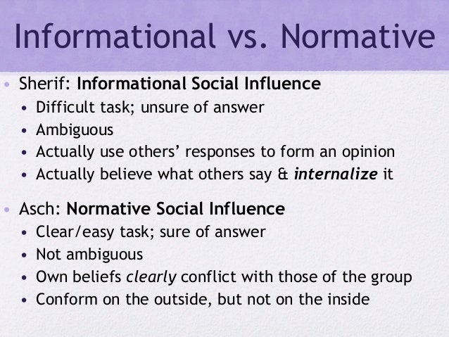 normative influence essay