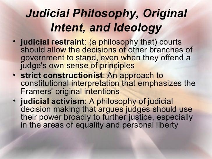judicial activism vs judicial restraint