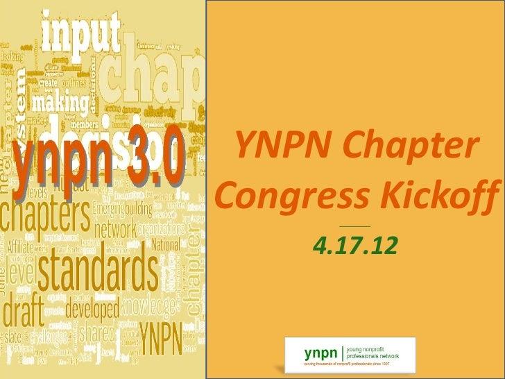 Chapter congress kickoff   4.17.12