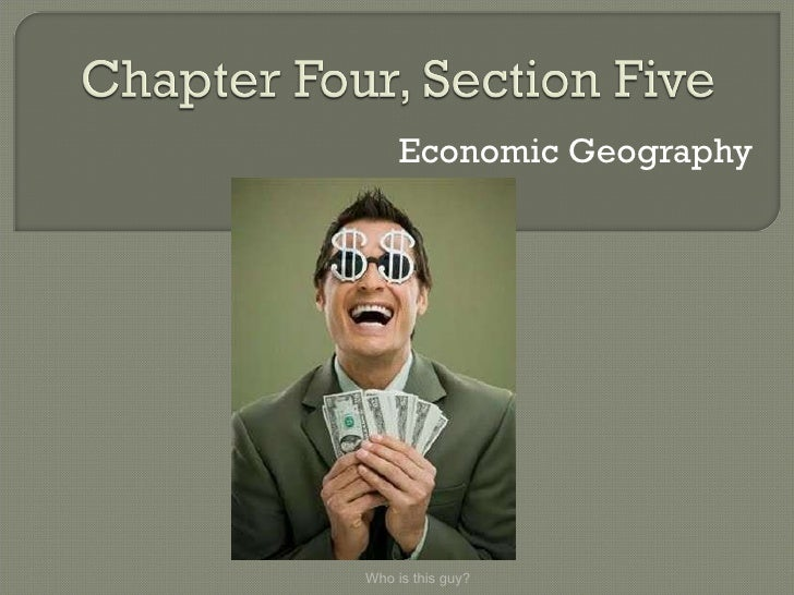 Economic Geography Who is this guy?