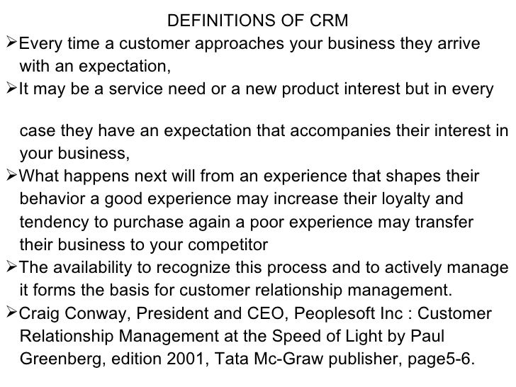 Chapter I Crm