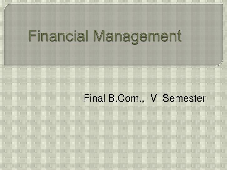 Nature Of Financial Management-B.V.Raghunandan