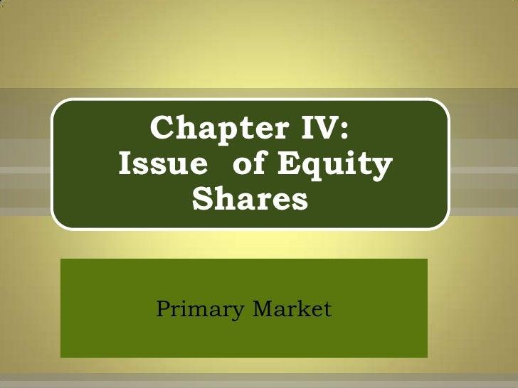 Issue Of Equity Shares-B.V.Raghunandan