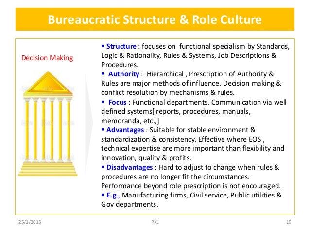 bureaucratic controls such as rules procedures Explain the pros and cons of bureaucratic controls such as rules, procedures, and supervision.
