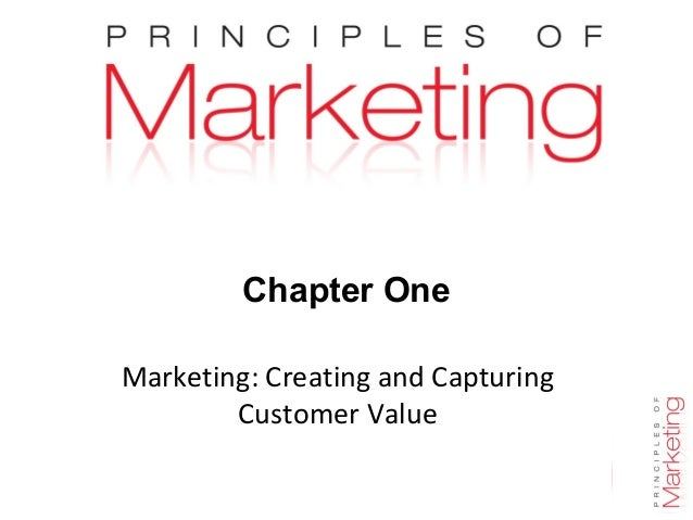 Chapter 1- slide 1 Chapter One Marketing: Creating and Capturing Customer Value
