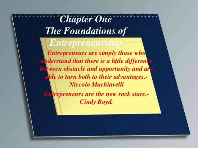 Chapter one evaluating your entrepreneurial potential