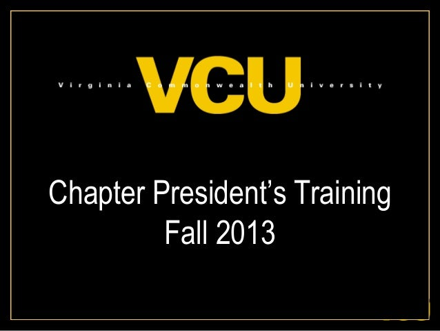Chapter President's Training Fall 2013