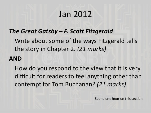 Great Gatsby Research Paper Topics