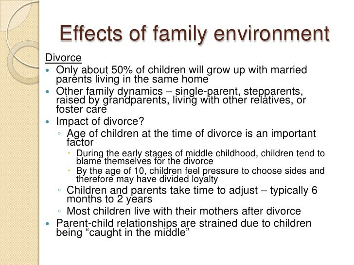 an analysis of the effects of parental divorce on the children