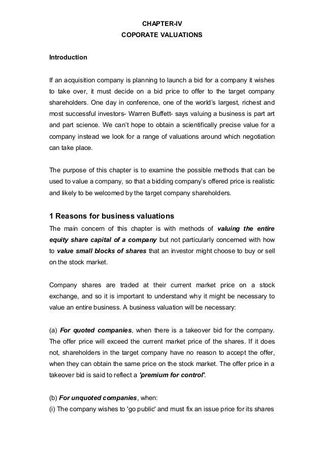 Chapter six   company valuation (sfm)