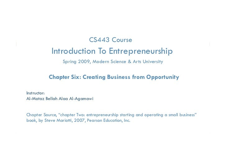 CS443 Course            Introduction To Entrepreneurship                                 p         p                   Spr...