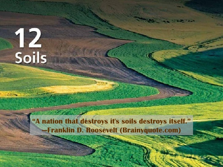 "Title Page Photo "" A nation that destroys it's soils destroys itself."" — Franklin D. Roosevelt (Brainyquote.com)"
