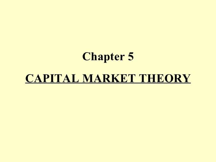Chapter v  capital market theory